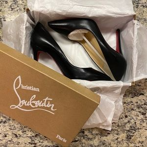 Christian Louboutin Pigalle 100mm Black Nappa